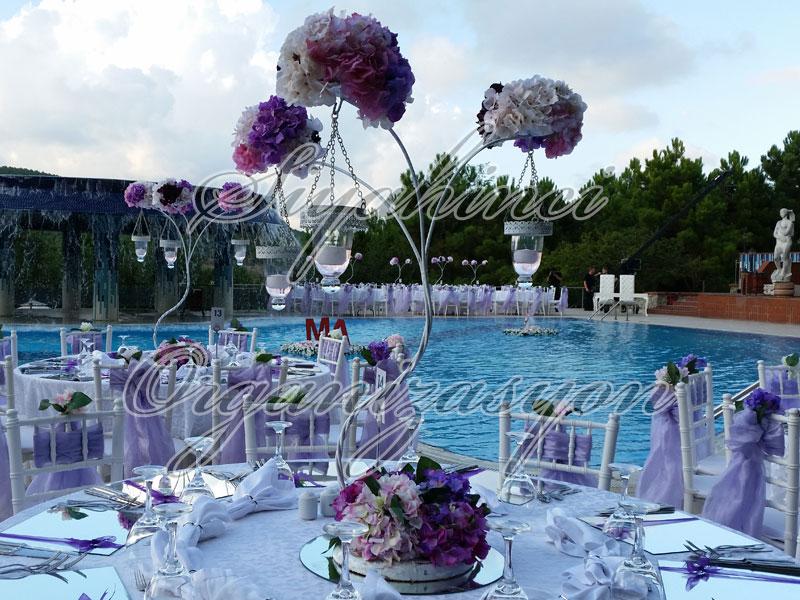 Şamdan - Tiffany - Yapay Çiçek
