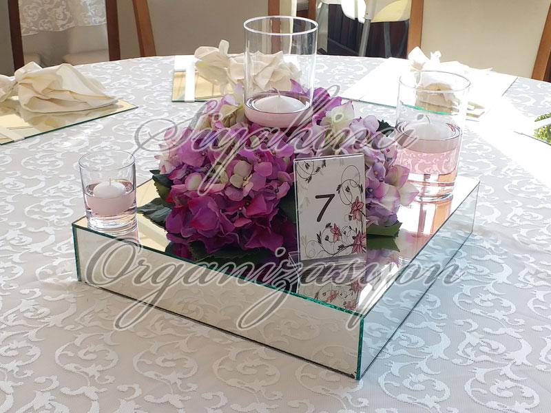 Masa Parteri - Yapay Çiçek Ortanca