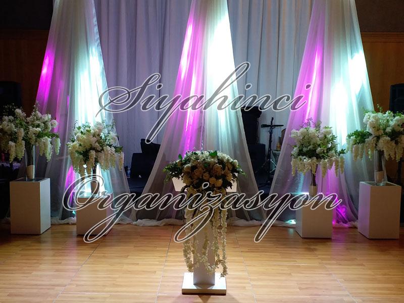 Backdrop - Tül ve Yapay Çiçek