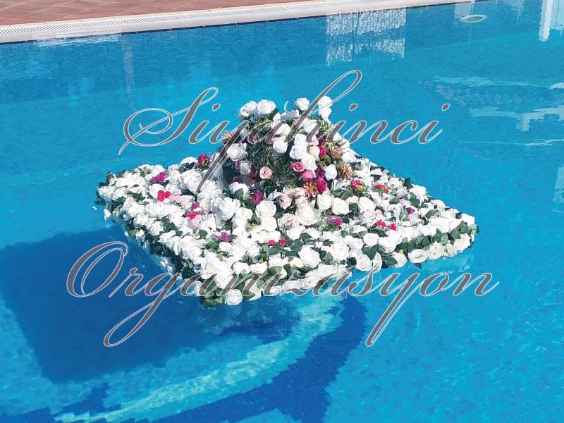 Havuz Çiçeği - 100x100 cm - Yapay Çiçek