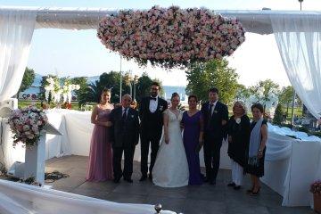 Nergis ve Doğu'nun Marmara Yelken Kulübünde yapılan Düğün Organizasyonu